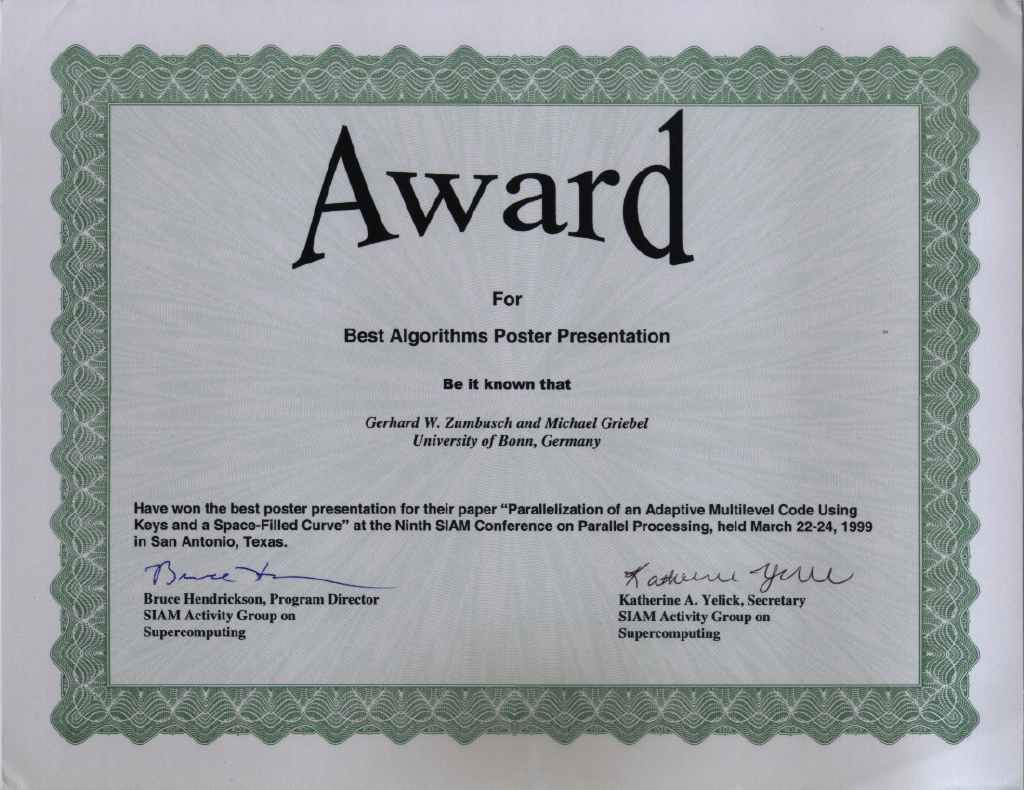 Research Group Prof Griebel Awards